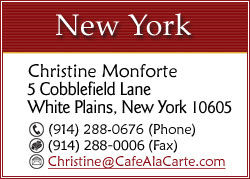 CLICK TO EMAIL CHRISTINE MONFORTE FOR NEW YORK EVENTS...